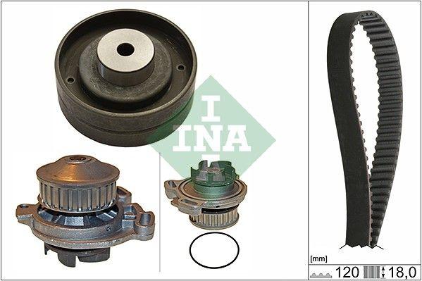 AUDI 80 1989 Wasserpumpe + Zahnriemensatz - Original INA 530 0151 30