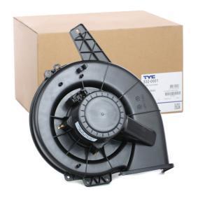 532-0001 TYC para vehículos con climatizador Tensión: 13,5V, Potencia nominal: 391,5W Ventilador habitáculo 532-0001 a buen precio