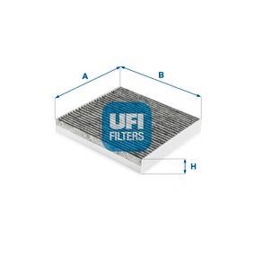 54.266.00 UFI Aktivkohlefilter Breite: 214,0mm, Höhe: 30,0mm, Länge: 194,0mm Filter, Innenraumluft 54.266.00 günstig kaufen