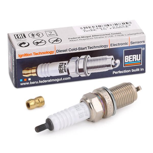 Pirkti 14F7DPUR02 BERU ULTRA tarpas tarp elektrodų: 0,7mm, sriegio dydis: M14x1,25 Uždegimo žvakė Z188 nebrangu