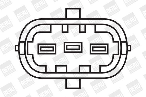 BERU Zündspule SAE-Kontaktfeder, Spark Spring, mit Rohrleitung, ohne Elektronik ZS085 YAMAHA