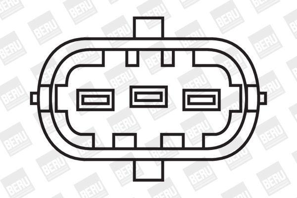 BERU Tändspole SAE-Kontaktfeder, Spark Spring, med rörledning, utan elektronik ZS085 TRIUMPH