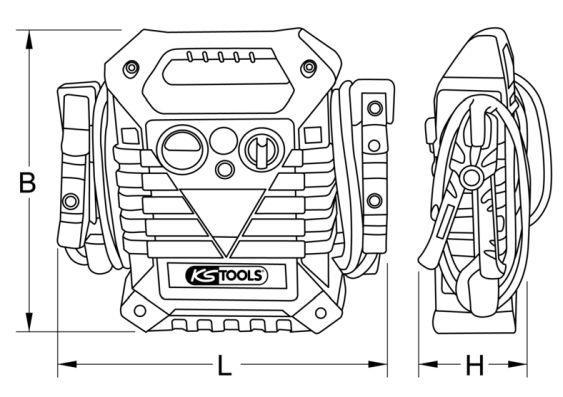 5501720 Starthilfe-Booster KS TOOLS 550.1720 - Große Auswahl - stark reduziert