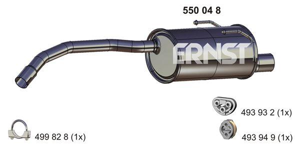 550048 ERNST mit Endrohrblende Endschalldämpfer 550048 günstig kaufen