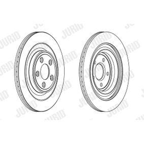 563027 JURID belüftet, beschichtet, ohne Schrauben Ø: 326mm, Lochanzahl: 5, Bremsscheibendicke: 20mm Bremsscheibe 563027JC günstig kaufen