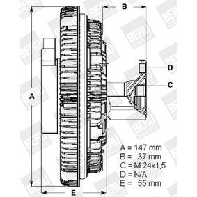 LK002 BERU Kupplung, Kühlerlüfter LK002 günstig kaufen