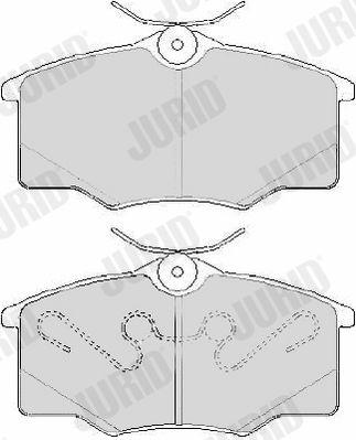 Achetez Jeu de plaquettes de frein JURID 573635J (Hauteur 1: 54mm, Épaisseur: 16,5mm) à un rapport qualité-prix exceptionnel