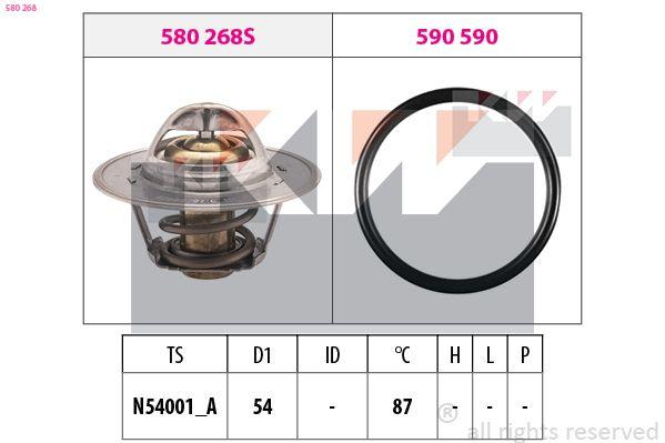 EPS1880268 KW Öffnungstemperatur: 87°C, separates Gehäuse, Made in Italy - OE Equivalent D1: 54mm Thermostat, Kühlmittel 580 268 günstig kaufen