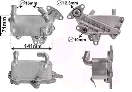 Automatikgetriebe Ölkühler VAN WEZEL 58013705