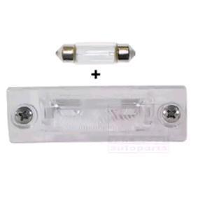 5857920 VAN WEZEL vänster bak, till höger bak, med glödlampa Belysning, skyltbelysning 5857920 köp lågt pris