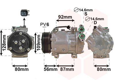 Original MITSUBISHI Kompressor Klimaanlage 5901K704