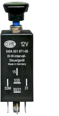 Køb HELLA Regulator, visker / vasker interval 5WA 001 871-071 lastbiler