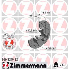 600.3219.52 ZIMMERMANN SPORT COAT Z Voll, Gelocht, beschichtet, ohne Radlager, mit ABS-Sensorring Ø: 226mm, Lochanzahl: 4, Bremsscheibendicke: 10mm Bremsscheibe 600.3219.52 günstig kaufen