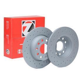 600.3241.52 ZIMMERMANN SPORT COAT Z Voll, Gelocht, beschichtet Ø: 272mm, Lochanzahl: 5, Bremsscheibendicke: 10mm Bremsscheibe 600.3241.52 günstig kaufen