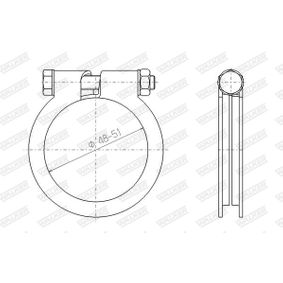 buy WALKER Clamp, exhaust system 81811 at any time