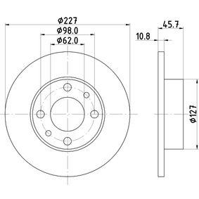 Disque de frein 8DD 355 100-361 HELLA Paiement sécurisé — seulement des pièces neuves