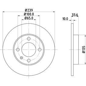 Disque de frein 8DD 355 104-191 HELLA Paiement sécurisé — seulement des pièces neuves