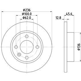 Disque de frein 8DD 355 105-871 HELLA Paiement sécurisé — seulement des pièces neuves
