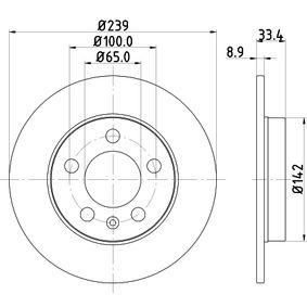 Bremsscheibe von HELLA - Artikelnummer: 8DD 355 107-461