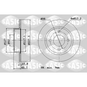 Brake Disc 9004220J SASIC Secure payment — only new parts