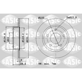 Brake Disc 9004589J SASIC Secure payment — only new parts