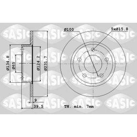 Disco de travão 9004589J SASIC Pagamento seguro — apenas peças novas