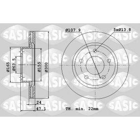 Bremsscheibe von SASIC - Artikelnummer: 9004825J