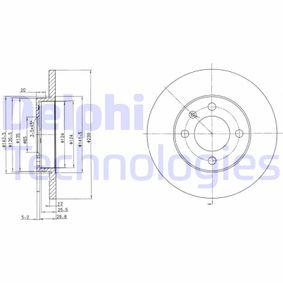Pērc un aizvieto Bremžu diski DELPHI BG2116C