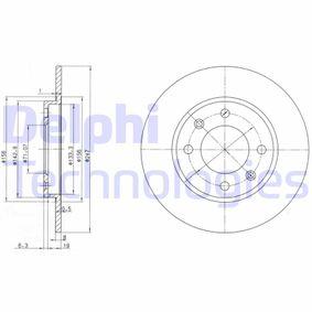 Disque de frein BG2800C DELPHI Paiement sécurisé — seulement des pièces neuves