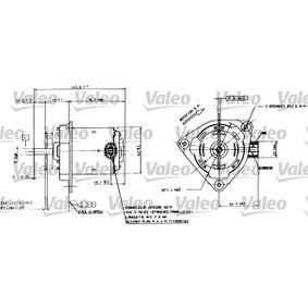 VALEO villanymotor, hűtőventillátor 698084 - vásároljon bármikor