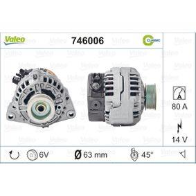 VALEO генератор 746006 купете онлайн денонощно