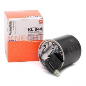 palivovy filtr KL 948 s vynikajícím poměrem mezi cenou a MAHLE ORIGINAL kvalitou