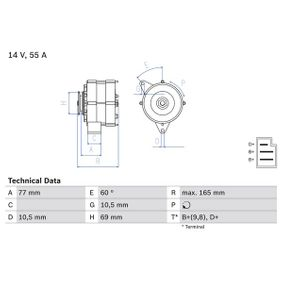 Cumpărați Generator / Alternator BOSCH 0 986 031 400