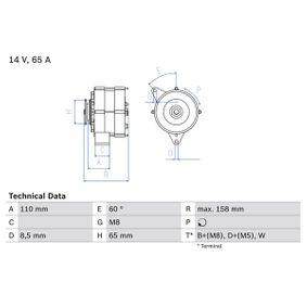 Cumpărați Generator / Alternator BOSCH 0 986 034 500