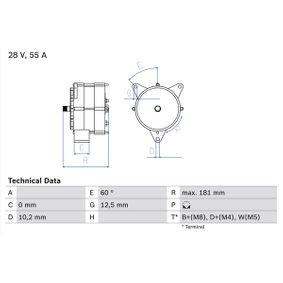 Köp BOSCH Generator 0 986 037 410