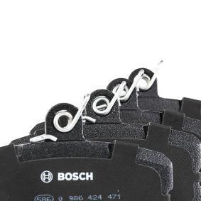 0 986 424 471 Brake Pad Set, disc brake BOSCH - Cheap brand products