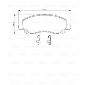 0 986 424 716 Brake Pad Set, disc brake BOSCH - Cheap brand products
