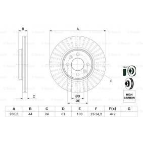 0 986 478 590 Disque de frein BOSCH - Produits de marque bon marché