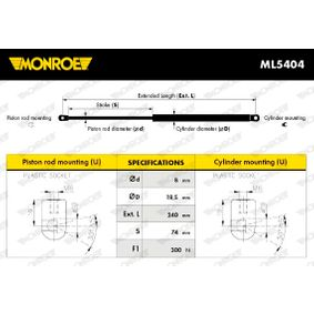 compre MONROE Mola pneumática, capota ML5404 a qualquer hora