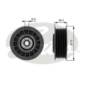 Køb GATES Medløberhjul, multi-V-rem T38092
