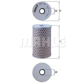 Order HX 15 MAHLE ORIGINAL Hydraulic Filter, steering system now