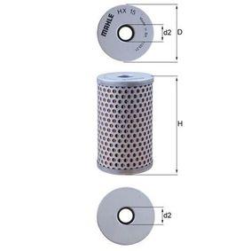 Beställ HX 15 MAHLE ORIGINAL Hydraulikfilter, styrsystem nu