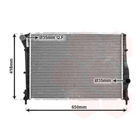 Radiatore, Raffreddamento motore 01002084 con un ottimo rapporto VAN WEZEL qualità/prezzo