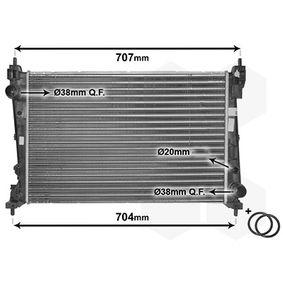 Radiatore, Raffreddamento motore 17002312 con un ottimo rapporto VAN WEZEL qualità/prezzo