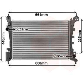 Radiatore, Raffreddamento motore 17002318 con un ottimo rapporto VAN WEZEL qualità/prezzo