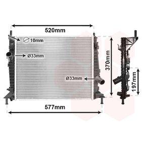 Radiatore, Raffreddamento motore 18002368 con un ottimo rapporto VAN WEZEL qualità/prezzo