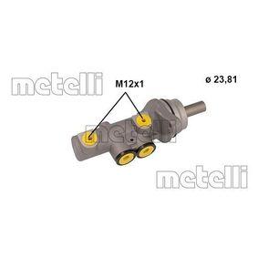 Αγοράστε METELLI Κεντρική αντλία φρένων 05-1142 οποιαδήποτε στιγμή