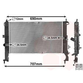 Radiatore, Raffreddamento motore 37002346 con un ottimo rapporto VAN WEZEL qualità/prezzo