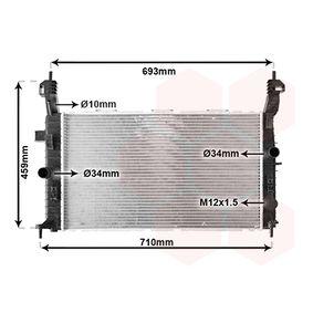 Radiatore, Raffreddamento motore 37002431 con un ottimo rapporto VAN WEZEL qualità/prezzo