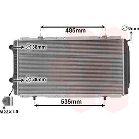 Radiatore, Raffreddamento motore 40002146 con un ottimo rapporto VAN WEZEL qualità/prezzo
